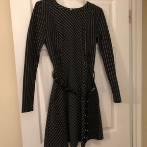 Michael Kors long sleeve pin-striped dress